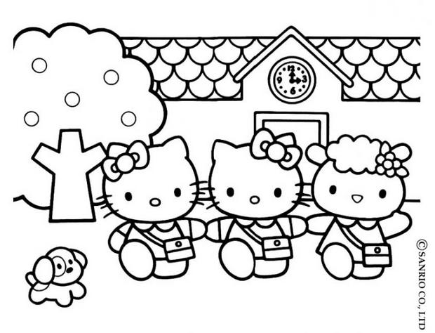 620x474 Hello Kitty's House Coloring Pages