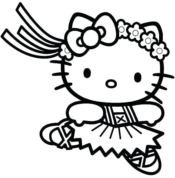 561x571 Hello Kitty Coloring Pages