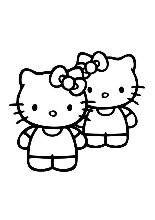 600x849 Best Friends Hello Kitty Coloring Pages Best Place To Color