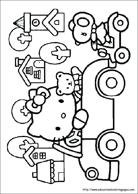 567x794 Hello Kitty And Friends Coloring Pages Medium Size Of Coloring
