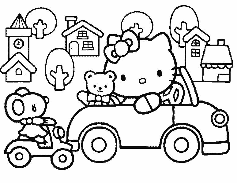 774x599 Hello Kitty And Friends Coloring Pages To Print