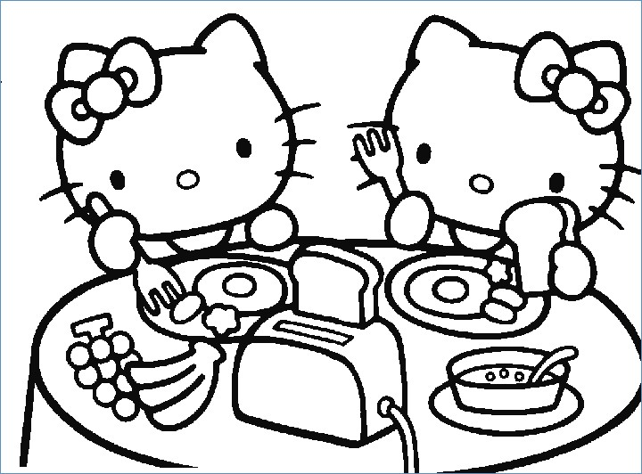 720x532 Hello Kitty Friends And Elephant Circus Coloring Pages