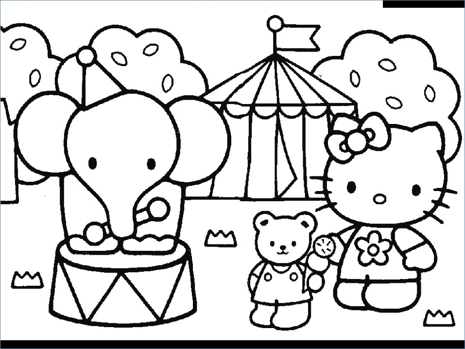 957x718 Hello Kitty Friends And Family Coloring Pages