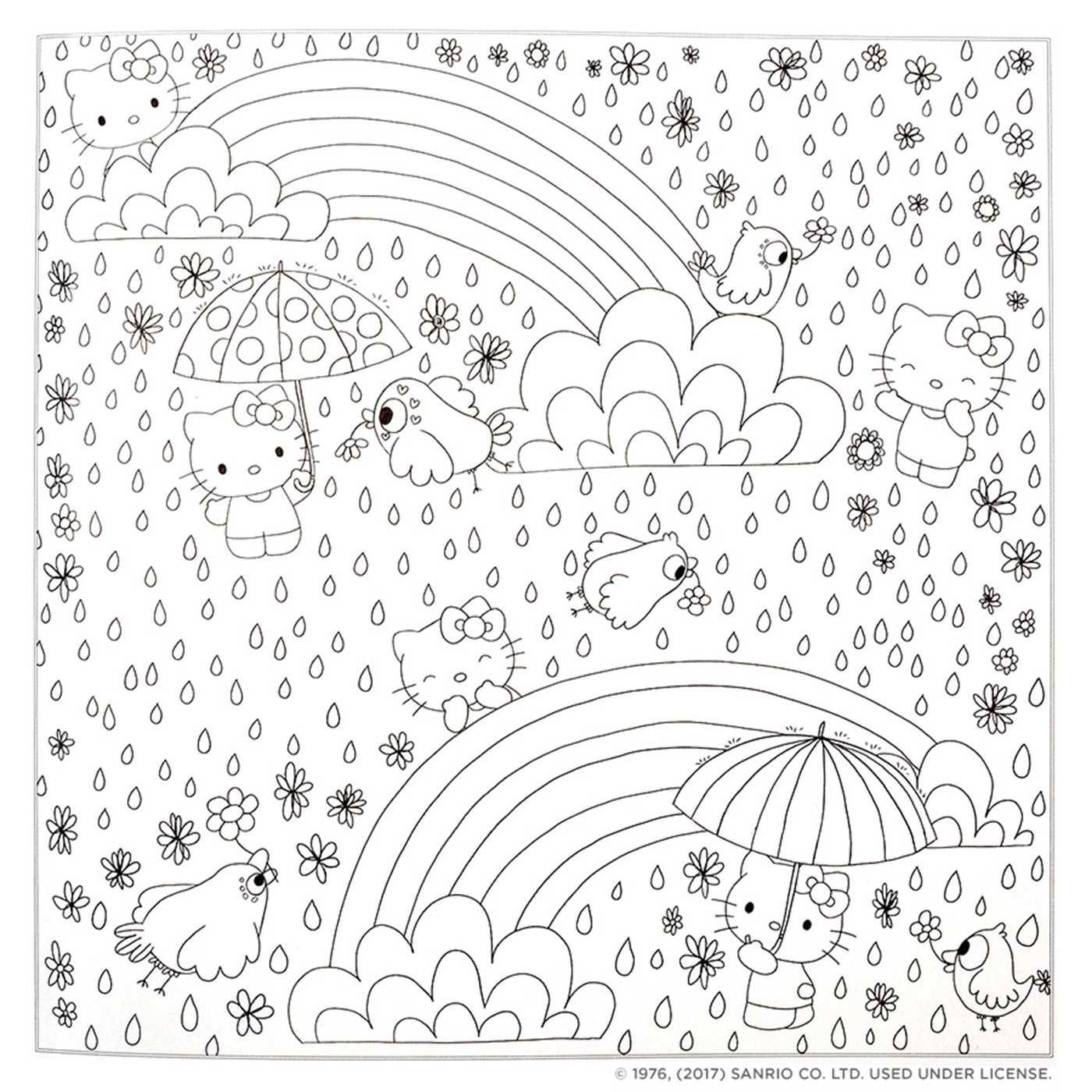 1400x1400 Hello Kitty Friends Coloring Book Book