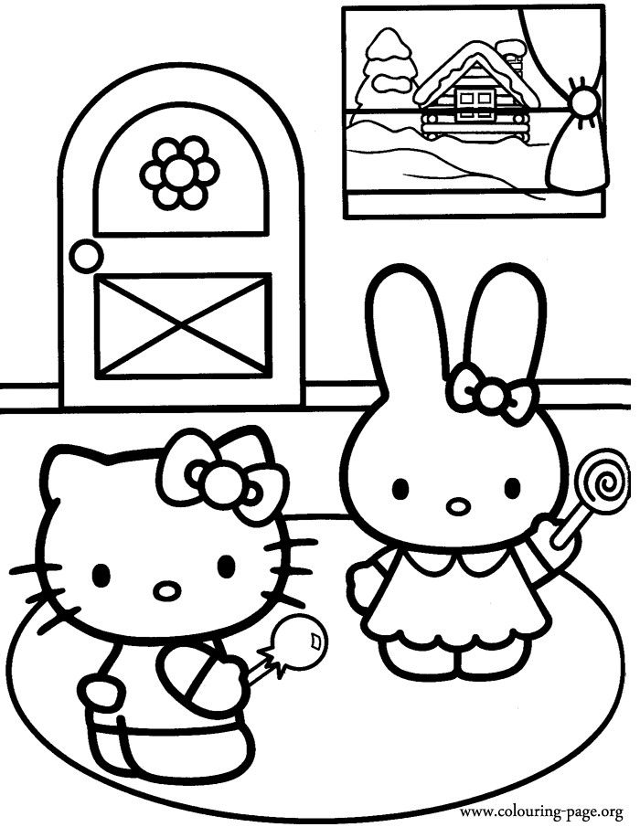 700x905 Hello Kitty And Friends Coloring Page Hello Kitty Coloring Pages