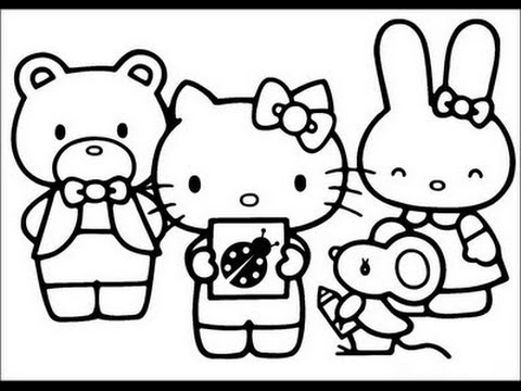480x360 Hello Kitty And Friends Coloring Pages