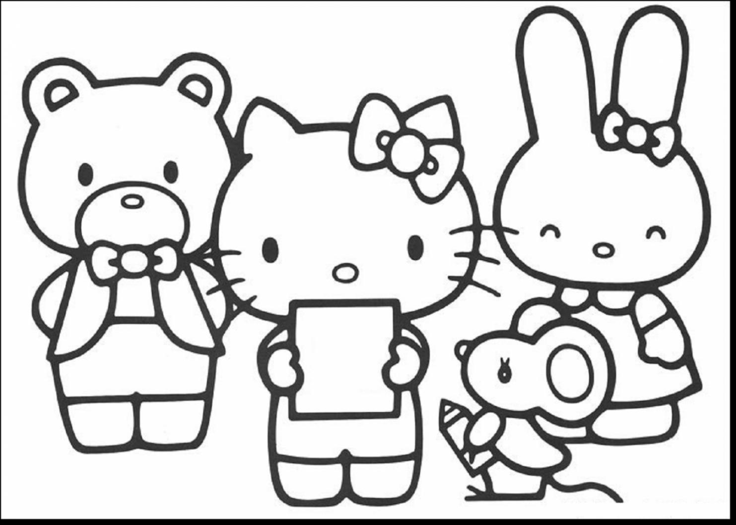 1483x1059 Coloring Pages For Kids Cartoons Hello Kitty Hello Kitty Angel