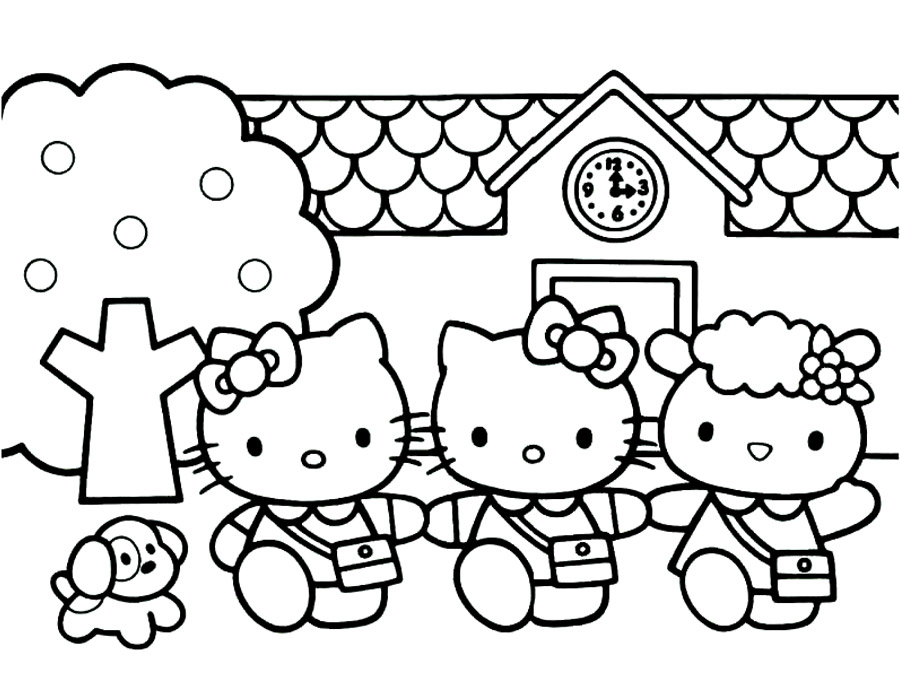 900x700 Kitty Coloring Pages
