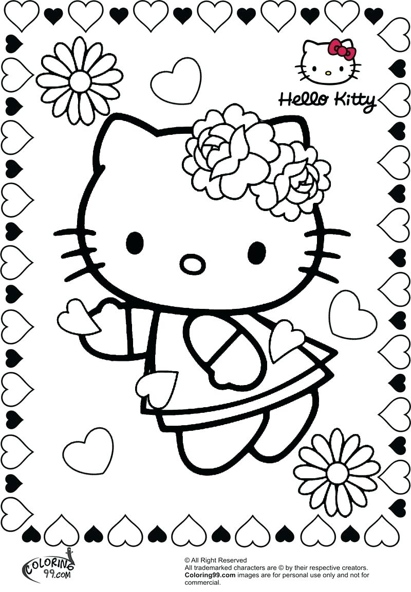 800x1150 Coloring Pages Coloring Pages Of Hello Kitty Page Fun Balloons
