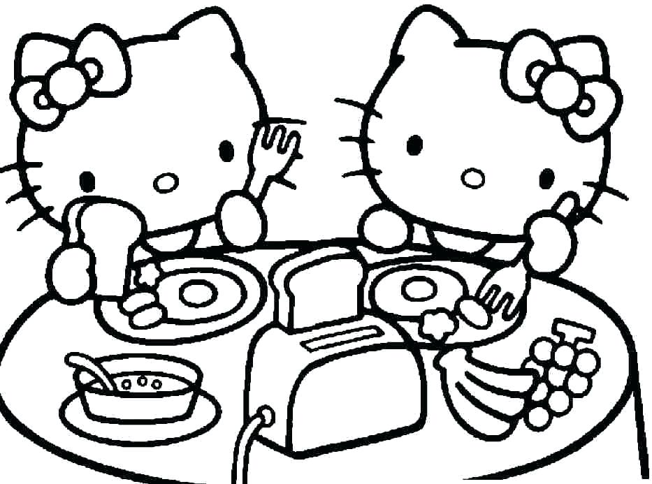 933x693 Hello Kitty And Friends Coloring Page Wesmec Site