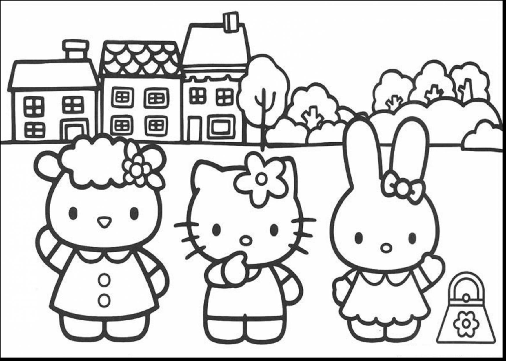1746x1247 Free Hello Kitty And Friends Coloring Pages Worksheets For All
