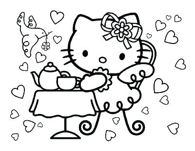 400x309 Hello Kitty Colouring Page Lovely Kitty Coloring Pages Kitty
