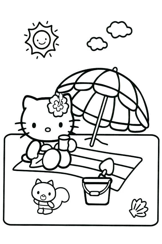 567x850 Hello Kitty For Coloring Hello Kitty Color Pages Cute Kitty