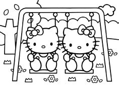 236x169 Hello Kitty Sitting At The Beach Coloring Page Adult Coloring