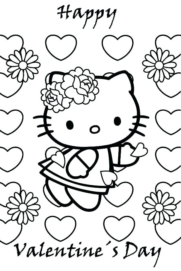 600x899 Beach Color Pages Hello Kitty Valentines Day Coloring Pages