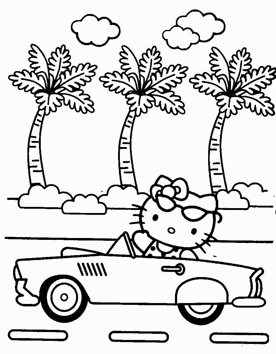 907x1160 Perfect Hello Kitty Summer Page About Hello Kitty Coloring Pages