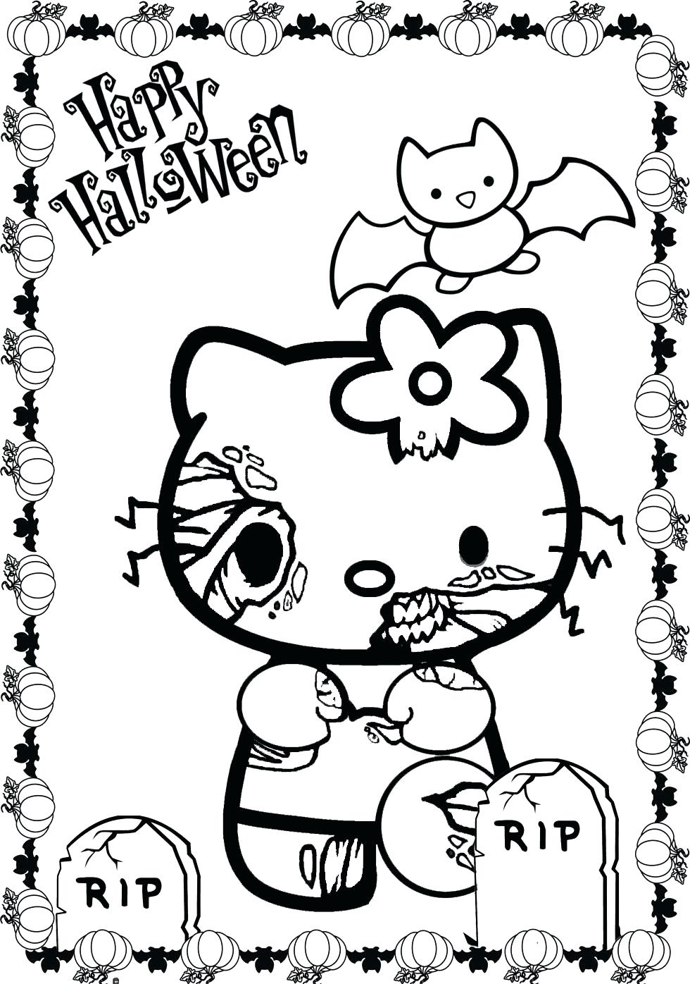 980x1396 Coloring Pages Coloring Pages Of Hello Kitty Summer Page Free