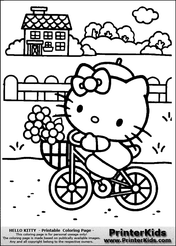 580x812 Hello Kitty Summer Coloring Pages Hello Kitty Summer Coloring