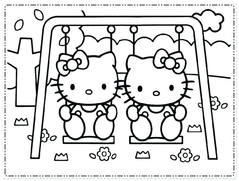 1011x768 Hello Kitty Birthday Coloring Page Awesome Printable Birthday