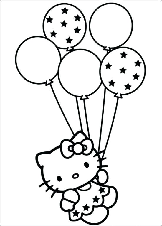 550x770 Hello Kitty Birthday Coloring Page Hello Kitty Coloring Printable