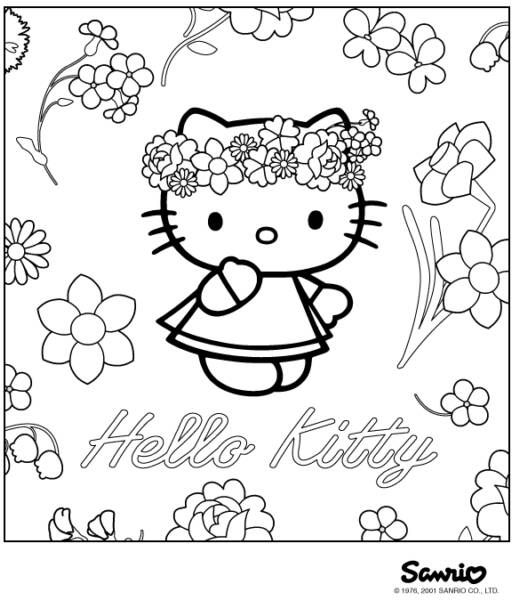519x600 Hello Kitty Birthday Coloring Pages Newsletter Templates