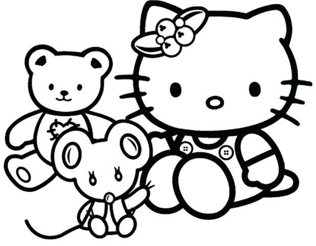 618x480 Hello Kitty Birthday Coloring Pages Free Printable Hello Kitty