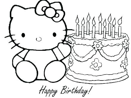 440x330 Hello Kitty Birthday Coloring Pages Hello Kitty Birthday Coloring