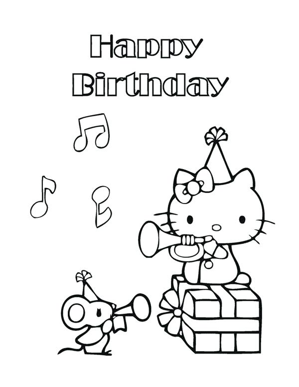 600x776 Hello Kitty Birthday Coloring Pages Ing Ing Ing Free Hello Kitty