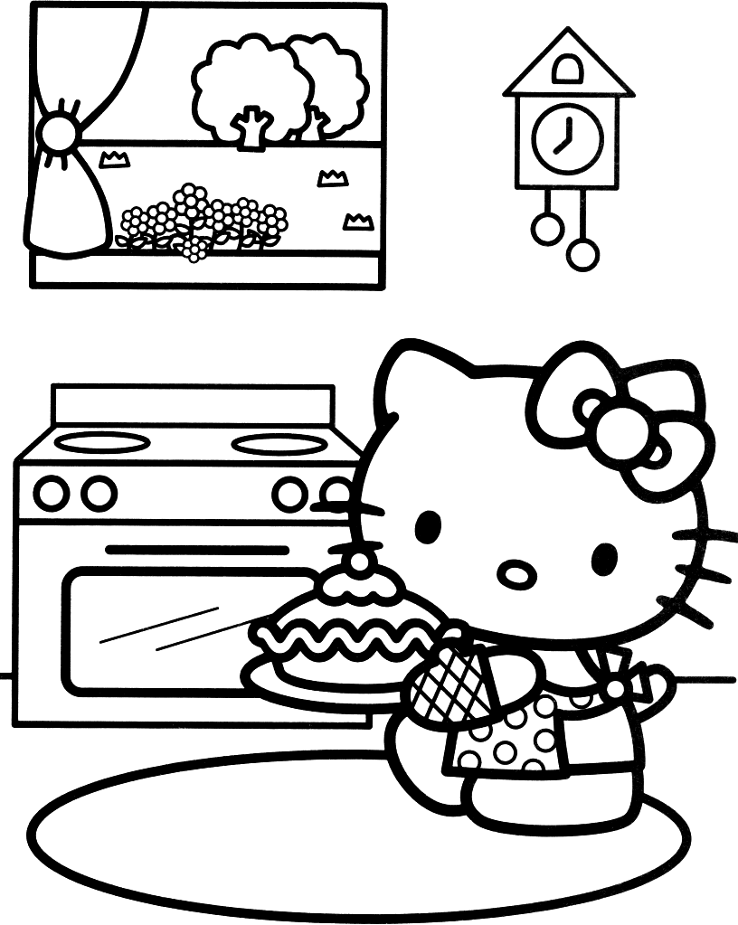 816x1023 Hello Kitty Coloring Pages