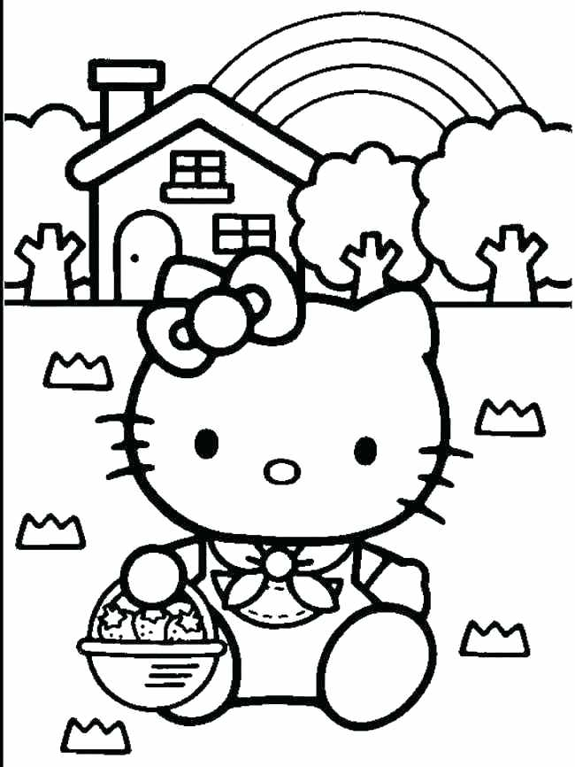 650x866 Hello Kitty Coloring Pages Free Printable Hello Kitty Popular