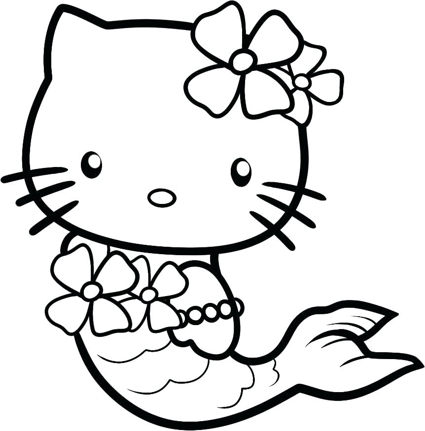862x875 Hello Kitty Halloween Coloring Pages Hello Kitty Birthday Coloring