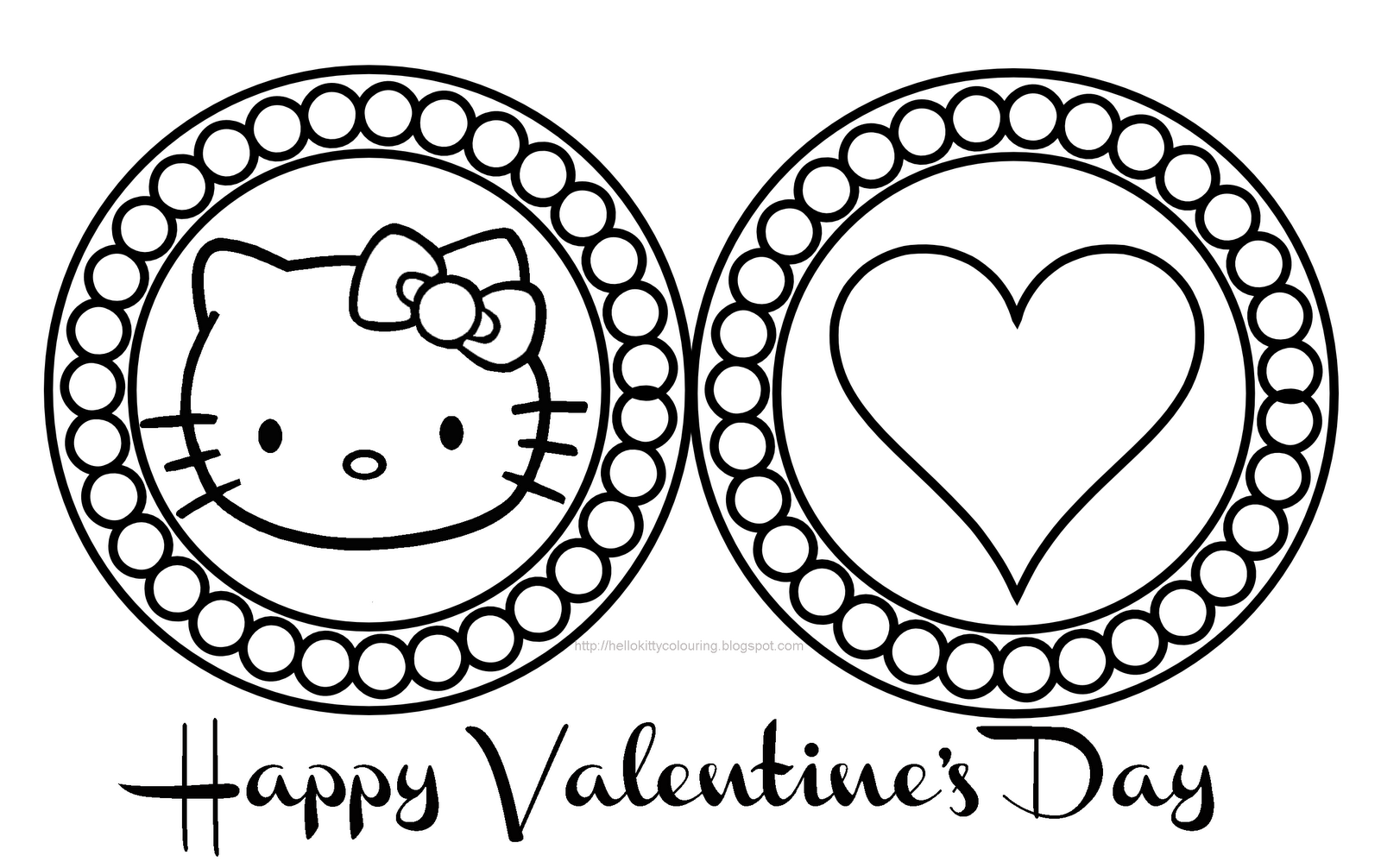 1600x1006 Hello Kitty Valentines Coloring Pages