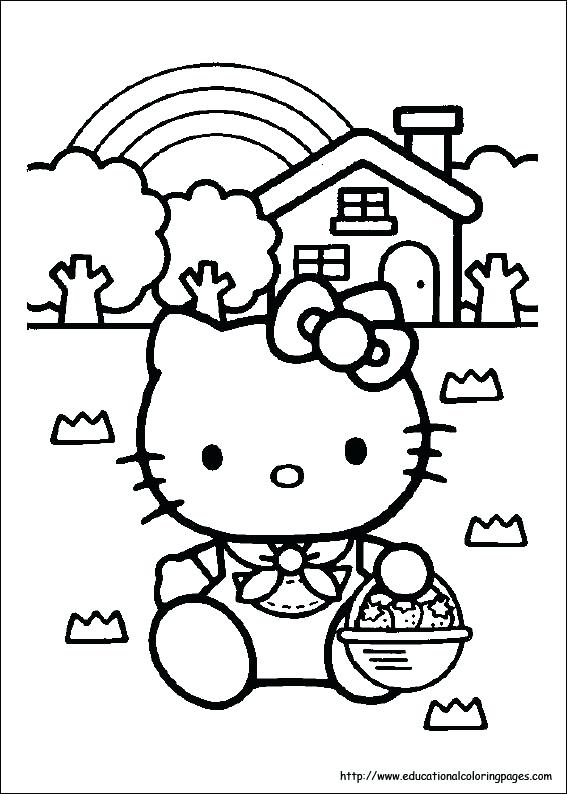 567x794 Kitty Coloring Pages Hello Kitty Coloring Pages Free For Kids
