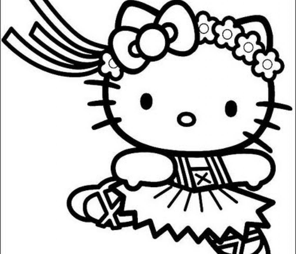 1006x864 Princess Hello Kitty Coloring Pages Free Printable Cartoons