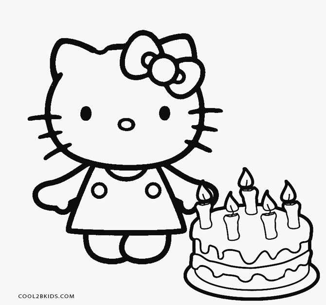 670x626 Trend Hello Kitty Birthday Coloring Pages For World Intended
