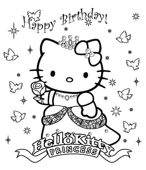 613x713 Happy Birthday Images With Hallow Kitty