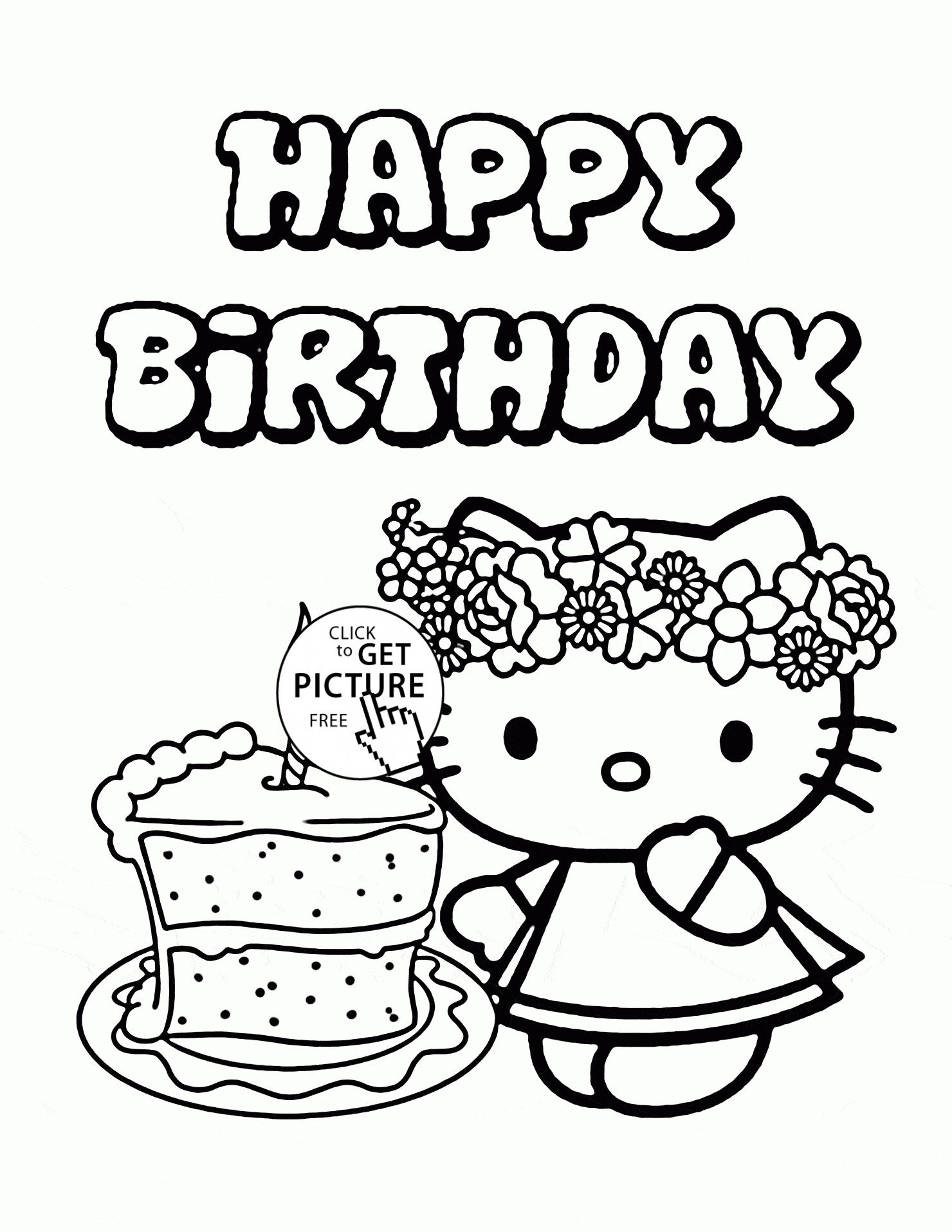 1480x1915 Hello Kitty Birthday Coloring Pages With Hello Kitty Birthday