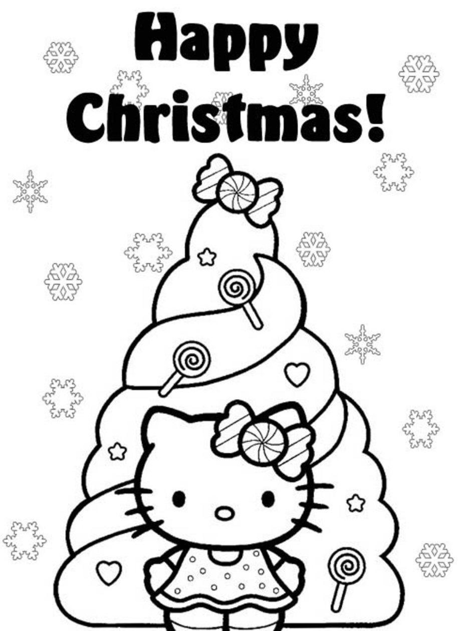 938x1260 hello kitty christmas coloring pages