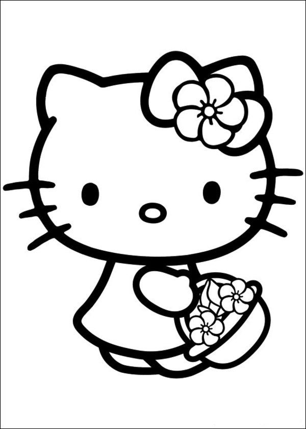 600x840 Free Printable Hello Kitty Coloring Pages Picture