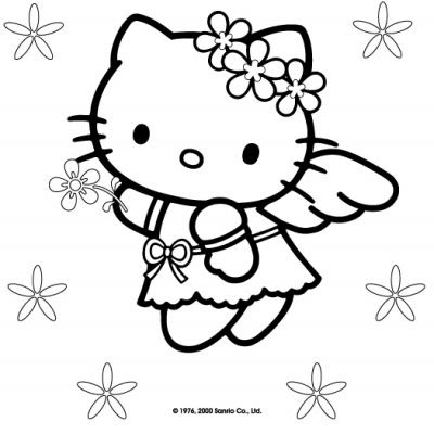 400x400 Hello Kitty Cute Pages Kids Hello Kitty Cartoon Coloring Pages