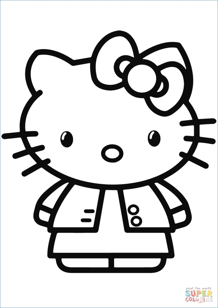 724x1024 Hello Kitty Ballerina Coloring Page