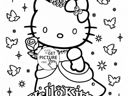 440x330 Coloring Pages For Girls Hello Kitty, Cartoon Coloring Pages