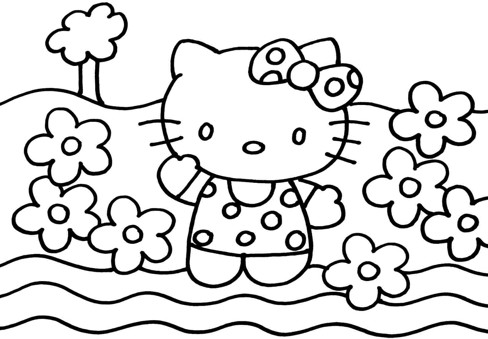 1600x1111 Awesome Coloring Pages To Print Of Hello Kitty Gallery Ideas