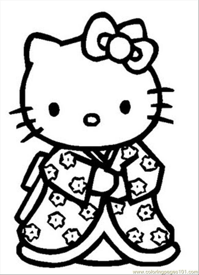 650x899 Hellokitty Coloring Page