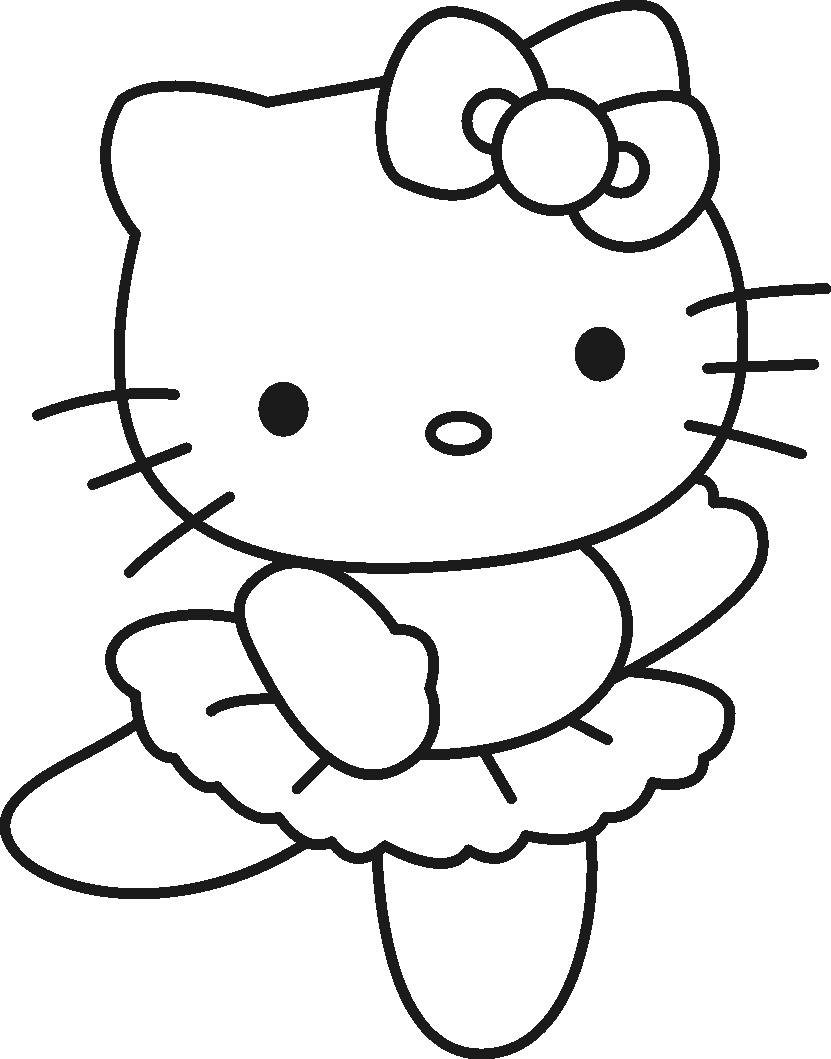 831x1059 Unique Hello Kitty Cartoon Coloring Pages Gallery Printable