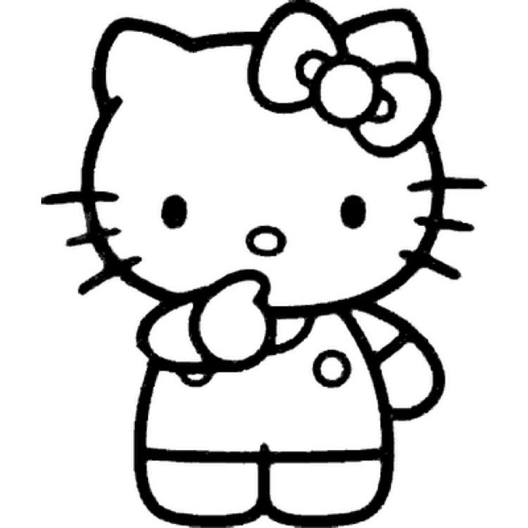 750x750 Hello Kitty Cartoon Coloring Pages