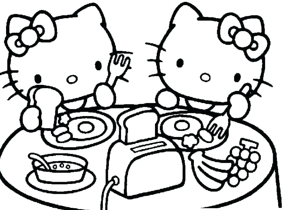 933x693 Cartoon Coloring Pages Printables Cartoon Cat Coloring Pages