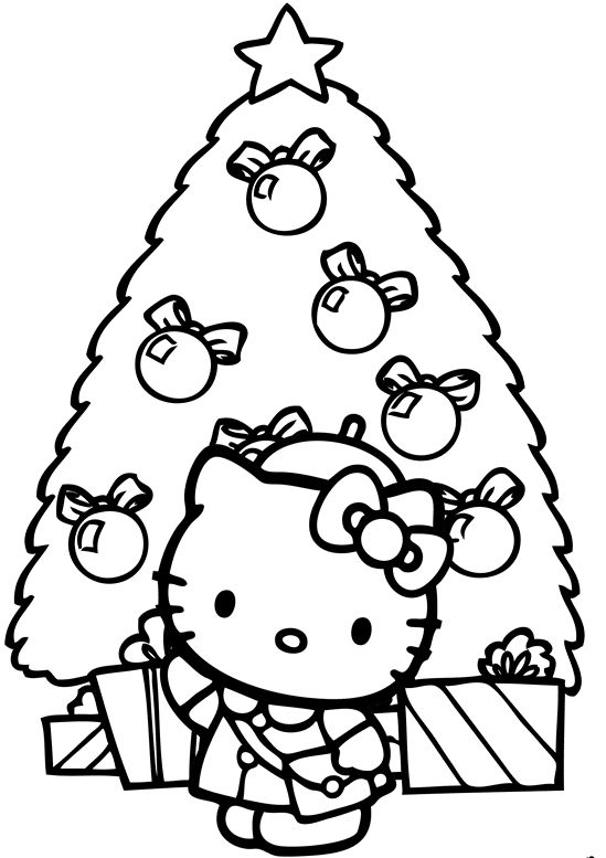 Hello Kitty Christmas Coloring Pages Free Print At Getdrawings Com