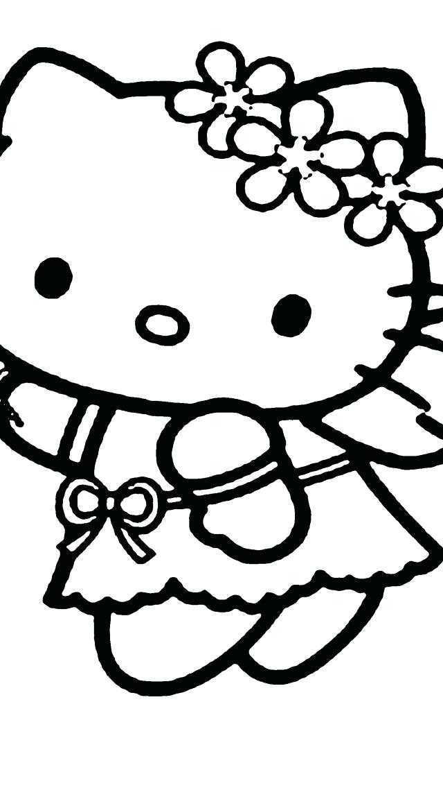 640x1136 Free Printable Coloring Pages Hello Kitty Christmas Coloring