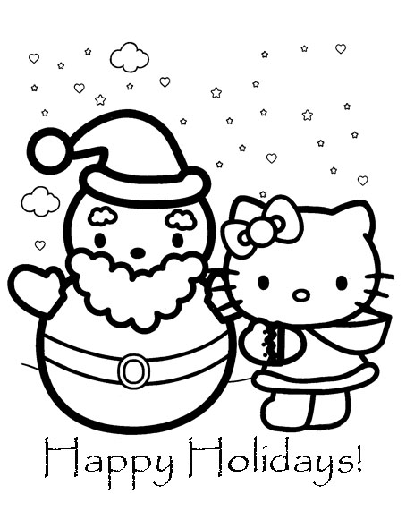454x571 Hello Kitty Christmas Coloring Pages Learn To Coloring
